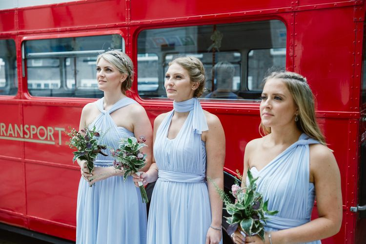 Bridesmaids in Lilac ASOS Bridesmaid Dresses | Bride in Jenny Packham Wedding Dress | Natalie J Weddings
