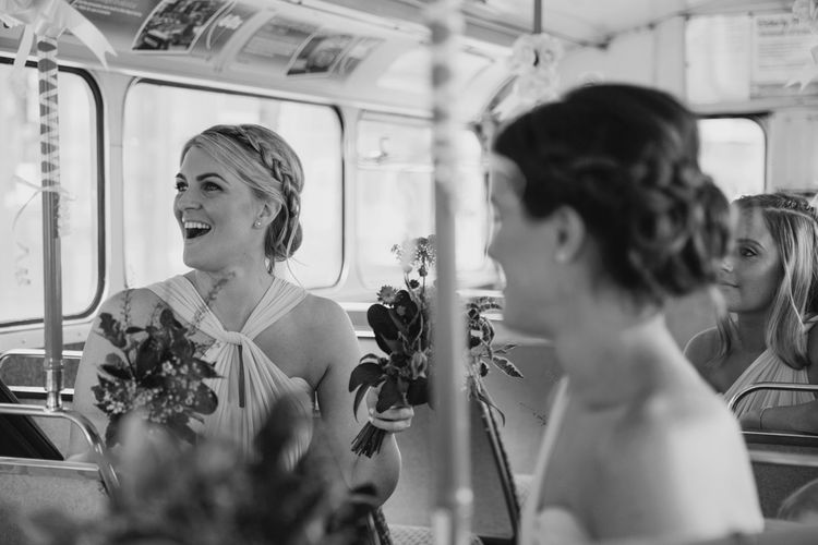 Bridesmaids in Lilac ASOS Dresses | Bride in Jenny Packham Wedding Dress | Natalie J Weddings