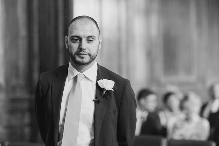Groom in Suit Supply | Hackney Town Hall Wedding | Bride in Jenny Packham Wedding Dress | Natalie J Weddings