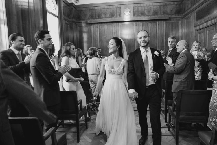Bride in Jenny Packham Wedding Dress | Groom in Suit Supply | Hackney Town Hall Wedding | Bride in Jenny Packham Wedding Dress | Natalie J Weddings