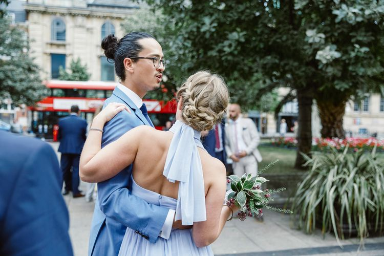 Bridesmaid Braided Up Do | Lilac ASOS Dress | Natalie J Weddings