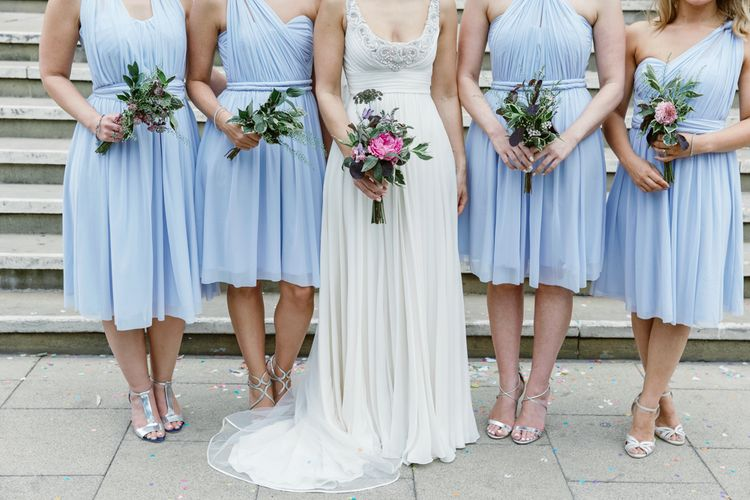 Bride in Jenny Packham Wedding Dress | Lilac ASOS Dress | Natalie J Weddings