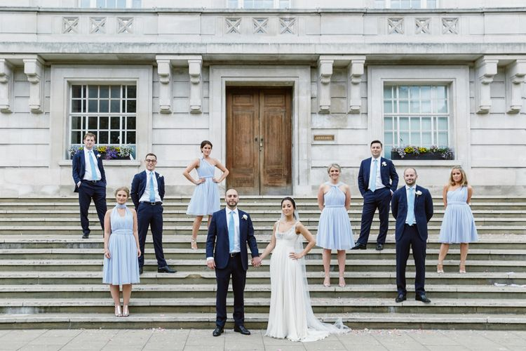 Wedding Party | Hackney Town Hall Wedding | Natalie J Weddings
