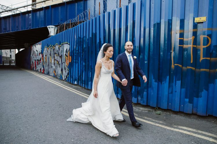 Bride in Jenny Packham | Groom in Suit Supply | London Wedding | Natalie J Weddings