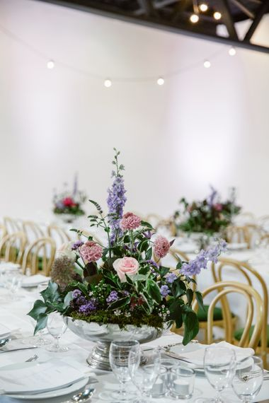 Floral Arrangement | Alva Studios, London Wedding Reception | Natalie J Weddings