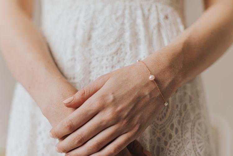 Annabel rose gold pearl bracelet by Chez Bec