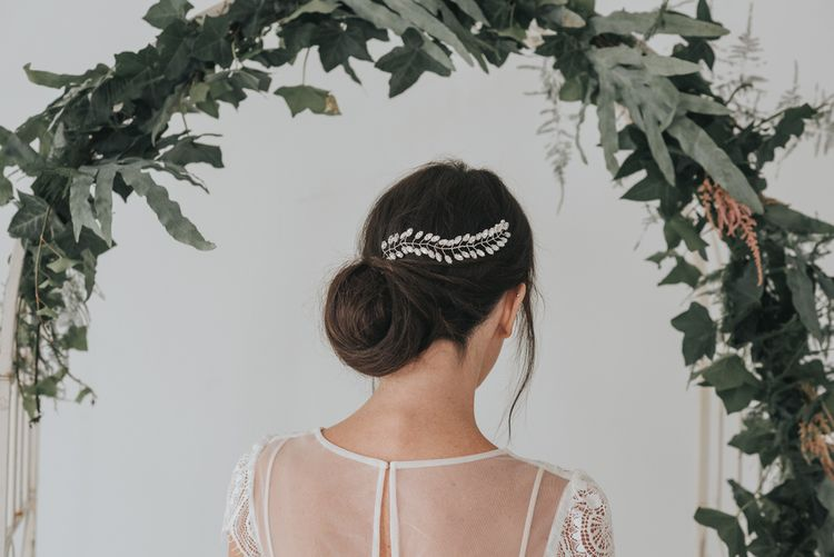 Fern crystal navette hair vine by Chez Bec