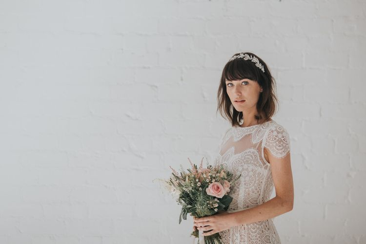 Rhapsody vine of leaves headpiece by Ivory and Co
