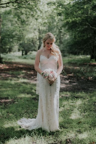 Real Bride in Sottero & Midgley Lace Wedding Dress