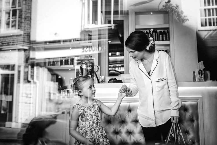 Bride & Flower Girl Getting Ready Image By Steve Gerrard Photography