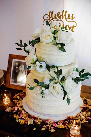 White Buttercream Wedding Cake Image By Steve Gerrard Photography