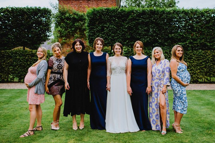 Bride & Friends Group Shot At Wedding Image by Steve Gerrard Photography