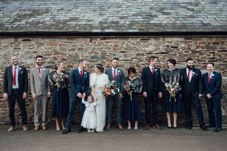 Wedding Party Winter Wedding