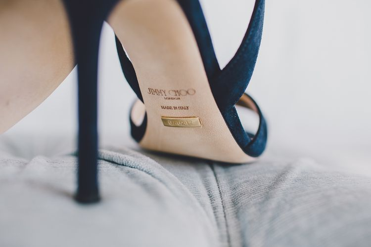 Personalised Navy Jimmy Choo Shoes | RS Brown Photography