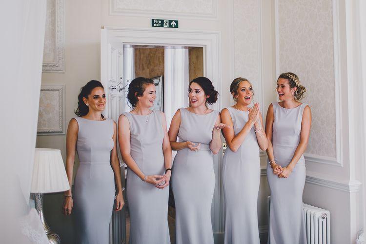 Bridesmaids in Grey Katie May Bridesmaid Dresses | RS Brown Photography