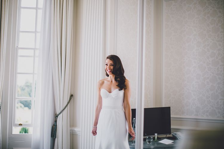 Bridal Preparations | Bride in Karen Willis Holmes Gown | RS Brown Photography