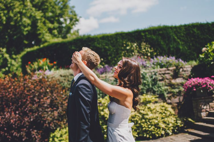 First Look | Bride in Karen Willis Holmes | RS Brown Photography