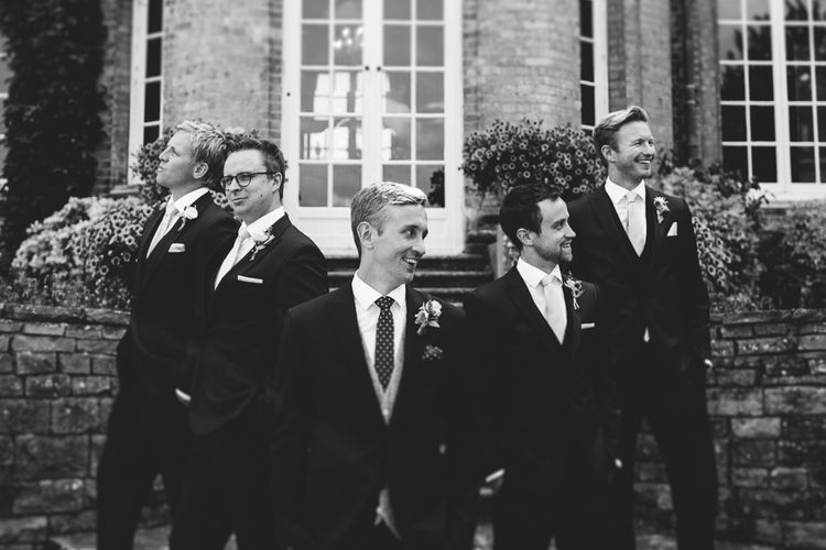 Groomsmen in Whitfield & Ward Suits | Hedsor House Wedding | RS Brown Photography