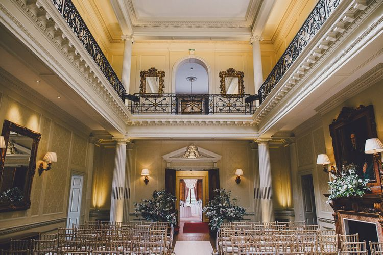 Ceremony Room | Hedsor House Wedding | RS Brown Photography
