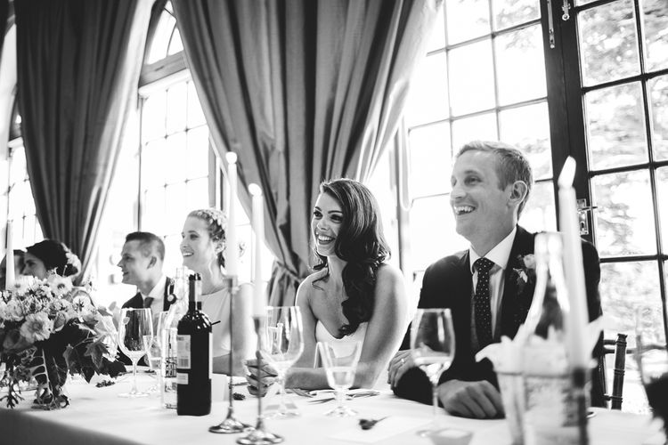 Speeches | Bride in Karen Willis Holmes Gown | Groom in Whitfield & Ward Suit | Hedsor House Wedding | RS Brown Photography
