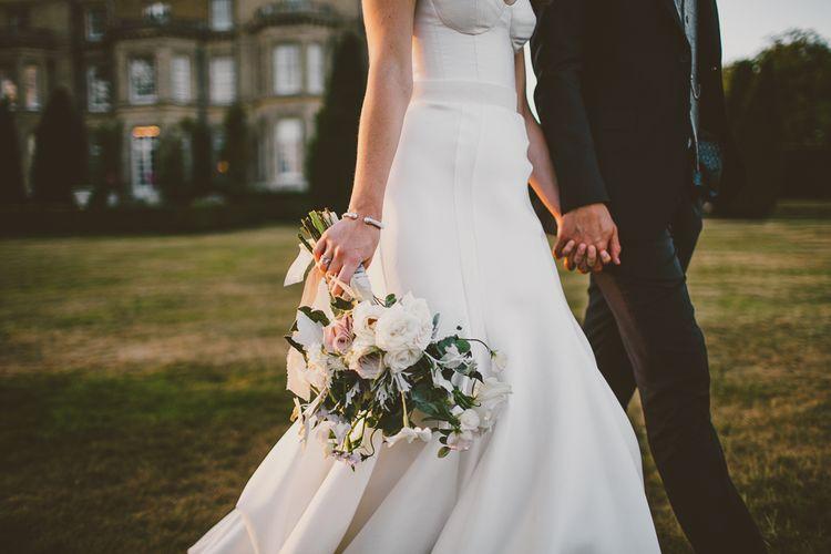Wedding Bouquet | Bride in Karen Willis Holmes Gown | Hedsor House Wedding | RS Brown Photography