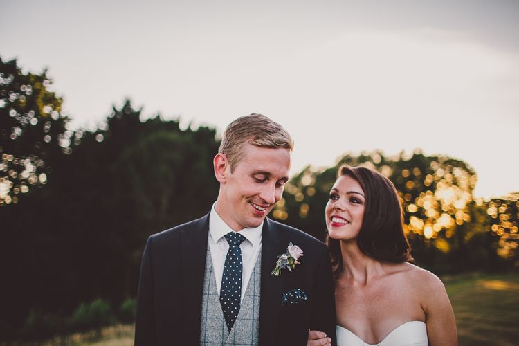 Golden Hour | Bride in Karen Willis Holmes Gown | Groom in Whitfield & Ward Suit | Hedsor House Wedding | RS Brown Photography