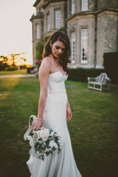 Bride in Karen Willis Holmes Gown | Hedsor House Wedding | RS Brown Photography