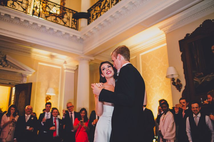 First Dance | Bride in Karen Willis Holmes Gown | Groom in Whitfield & Ward Suit | Hedsor House Wedding | RS Brown Photography