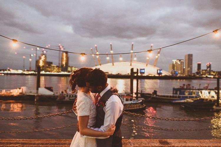 City Lights | Tropical Trinity Buoy Wharf Wedding | Matt Penberthy Photography