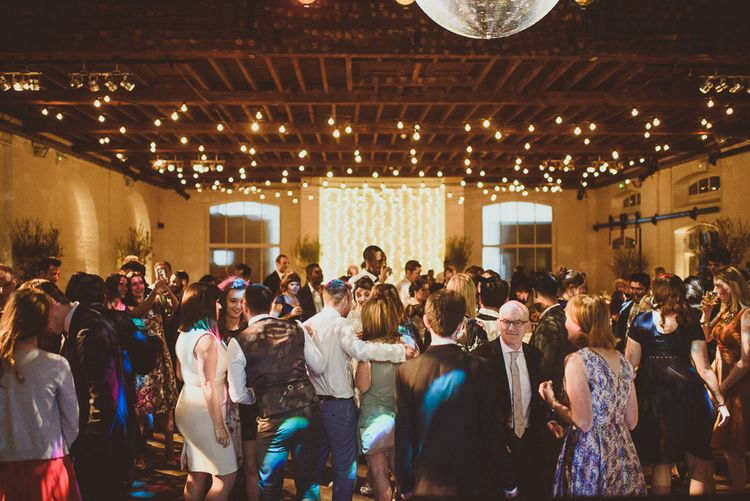 Fairy Light Reception | Tropical Trinity Buoy Wharf Wedding | Matt Penberthy Photography