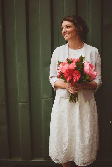 Bride in Ted Baker Separates | Tropical Trinity Buoy Wharf Wedding | Matt Penberthy Photography