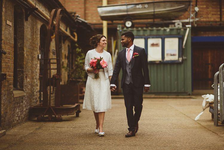 Bride in Ted Baker Separates | Groom in Hugo Boss | Tropical Trinity Buoy Wharf Wedding | Matt Penberthy Photography