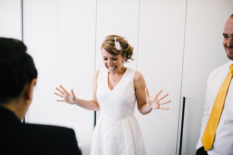 Bride in Ted Baker Wedding Dress