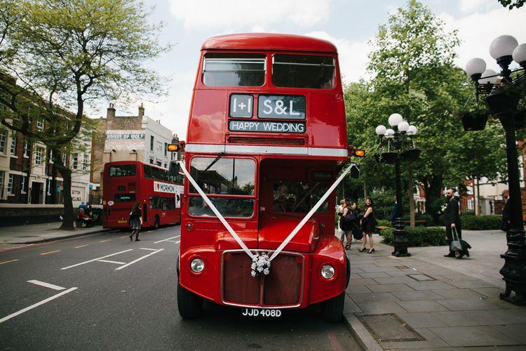 Red London Bus Wedding Transport