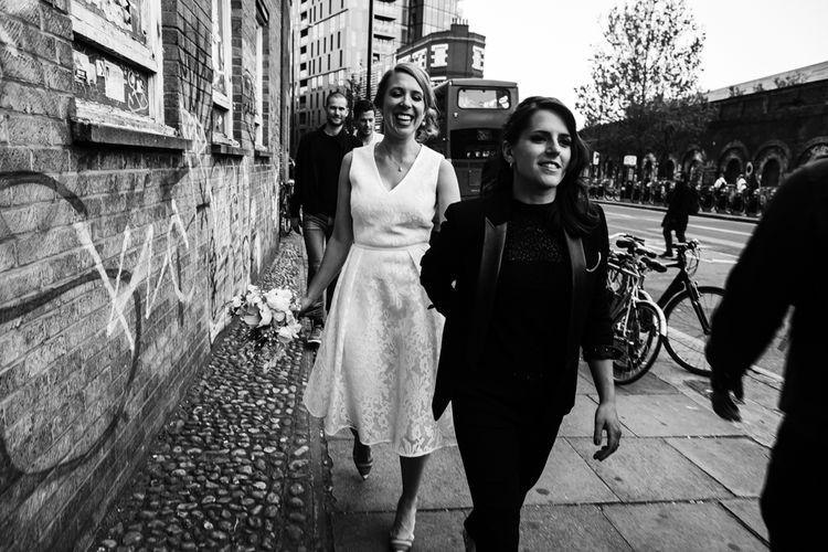 Bride & Bride Urban Portrait