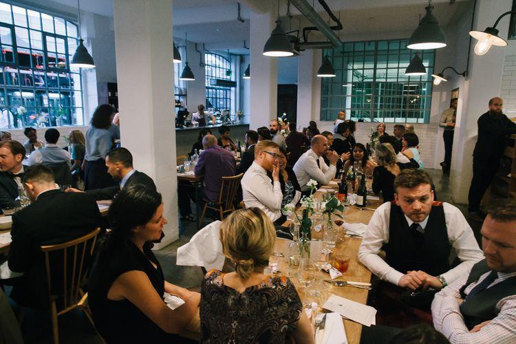 Lyle's London Restaurant Wedding Reception