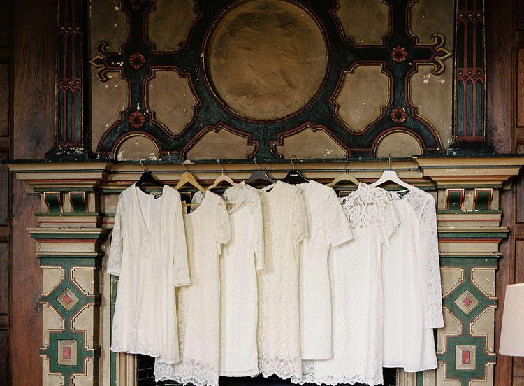 #crowedding highstreet white bridesmaid dresses