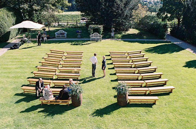 #crowedding Elmore Court Outdoor wedding ceremony
