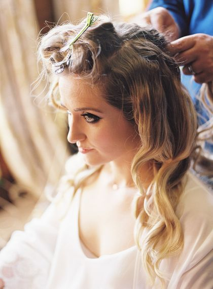 #crowedding hair by Hepburn Collection. Makeup by Katy Bird