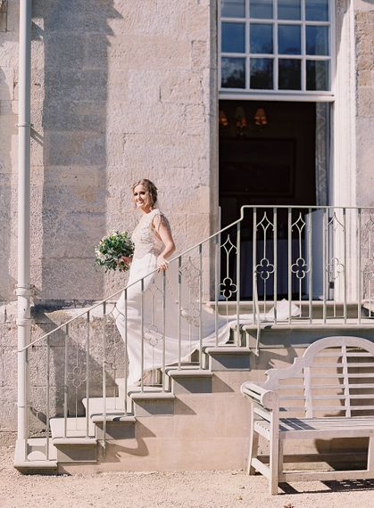 #crowedding Elmore Court Outdoor ceremony Anna Campbell gown