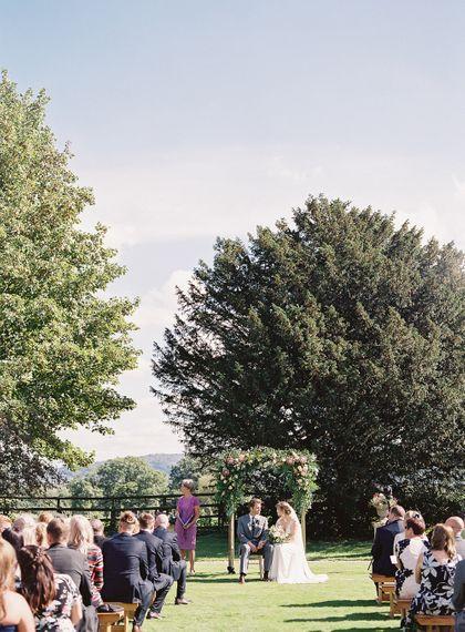 #crowedding Elmore Court Outdoor ceremony