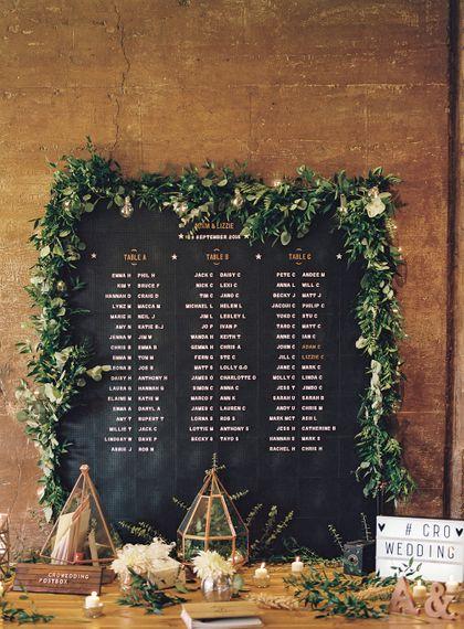 #crowedding Rose & Grey barber board table plan