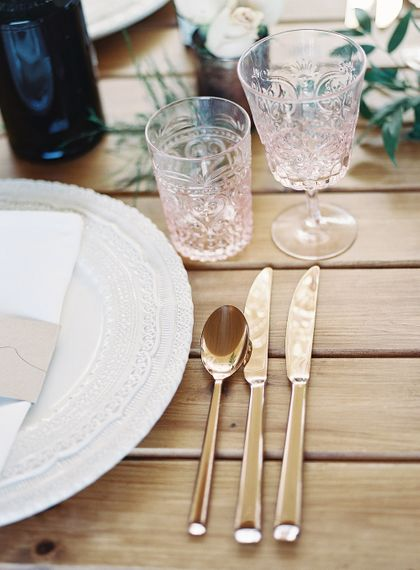 #crowedding Duchess & Butler cutlery, charger plates & Glasswear