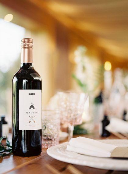 #crowedding branded wine bottle design