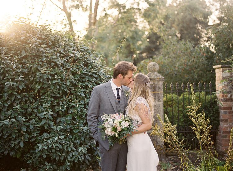 #crowedding Anna Campbell gown Cad & The Dandy suit