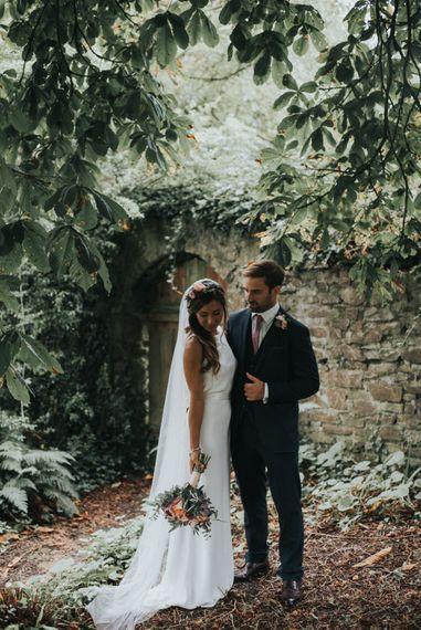 Bride & Groom Country Garden