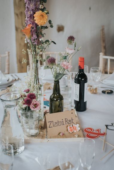 Table Centrepieces | Flower Stems in Vases