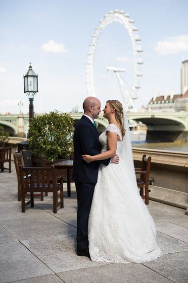 Bride & Groom London Landmark Wedding Photographs