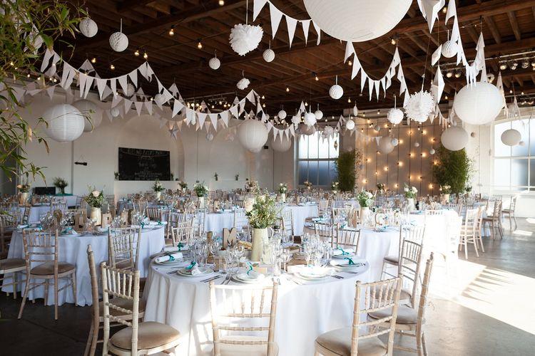 DIY Decorated Trinity Buoy Wharf Wedding Venue