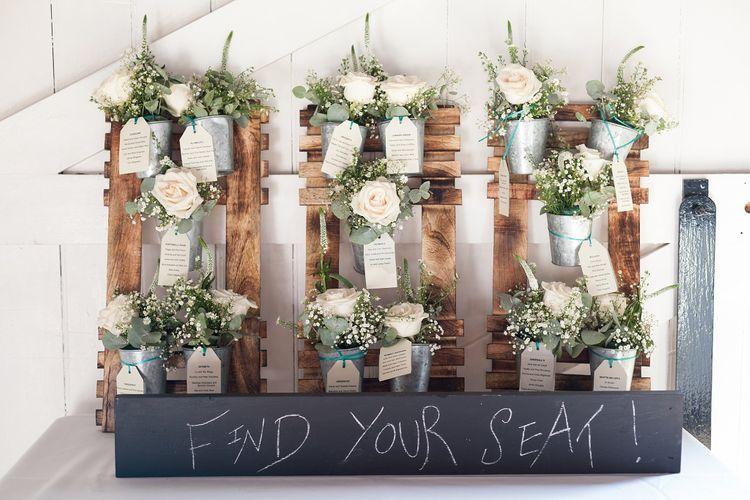 Wooden Crates & Plant Pot Table Plan